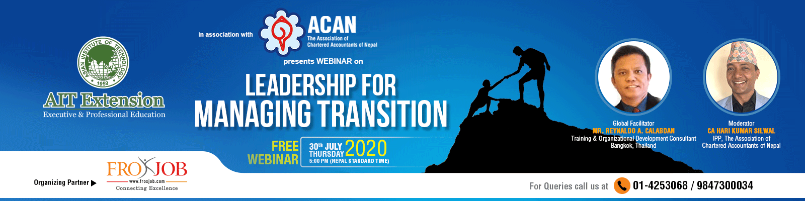 "Webinar on ""Leadership for Managing Transition"""
